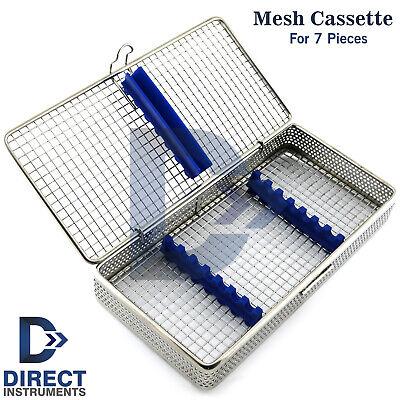 Dental Mesh Instruments Cassette Tray Rack For Holding 7pcs Scaler Sterilization