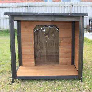Outdoor Extra Large Dog Kennel with Balcony. Pet Houses Free Post PetJ