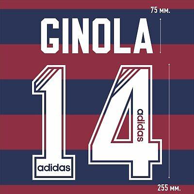 Ginola 14. Newcastle United Away football shirt 1995 1996 FLOCK NAMESET PRINT image