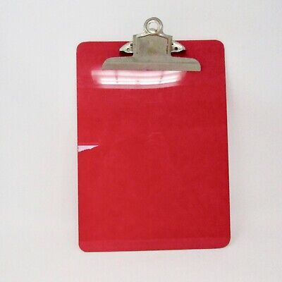 Vintage Luciteplastic Clip Board Red Lucite Clip Board Office Supply