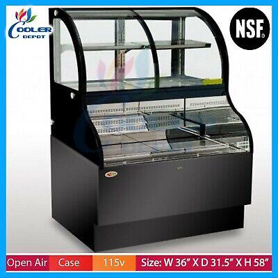 36 Open Air Display Case Refrigerator Deli Case Cooler Case Grab Go Case Nsf