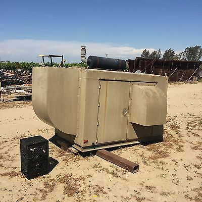 Sound Attenuated Weather Proof Generator Enclosure W Exhaust Muffler