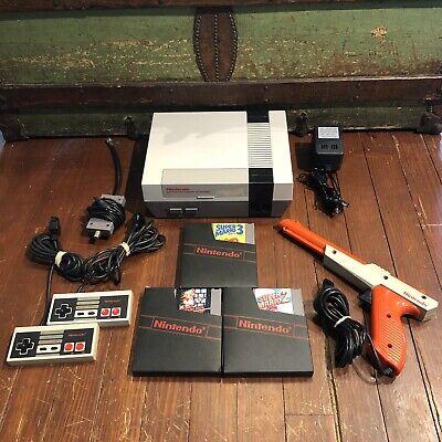 vintage Nintendo NES System Console w/ Super Mario Bros 1 2 & 3
