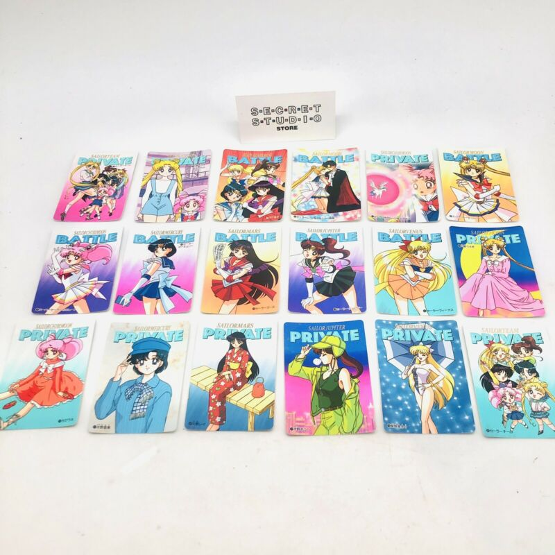 Bandai Sailor Moon Carddass Battle Private set of 18 Reg Cards Mint
