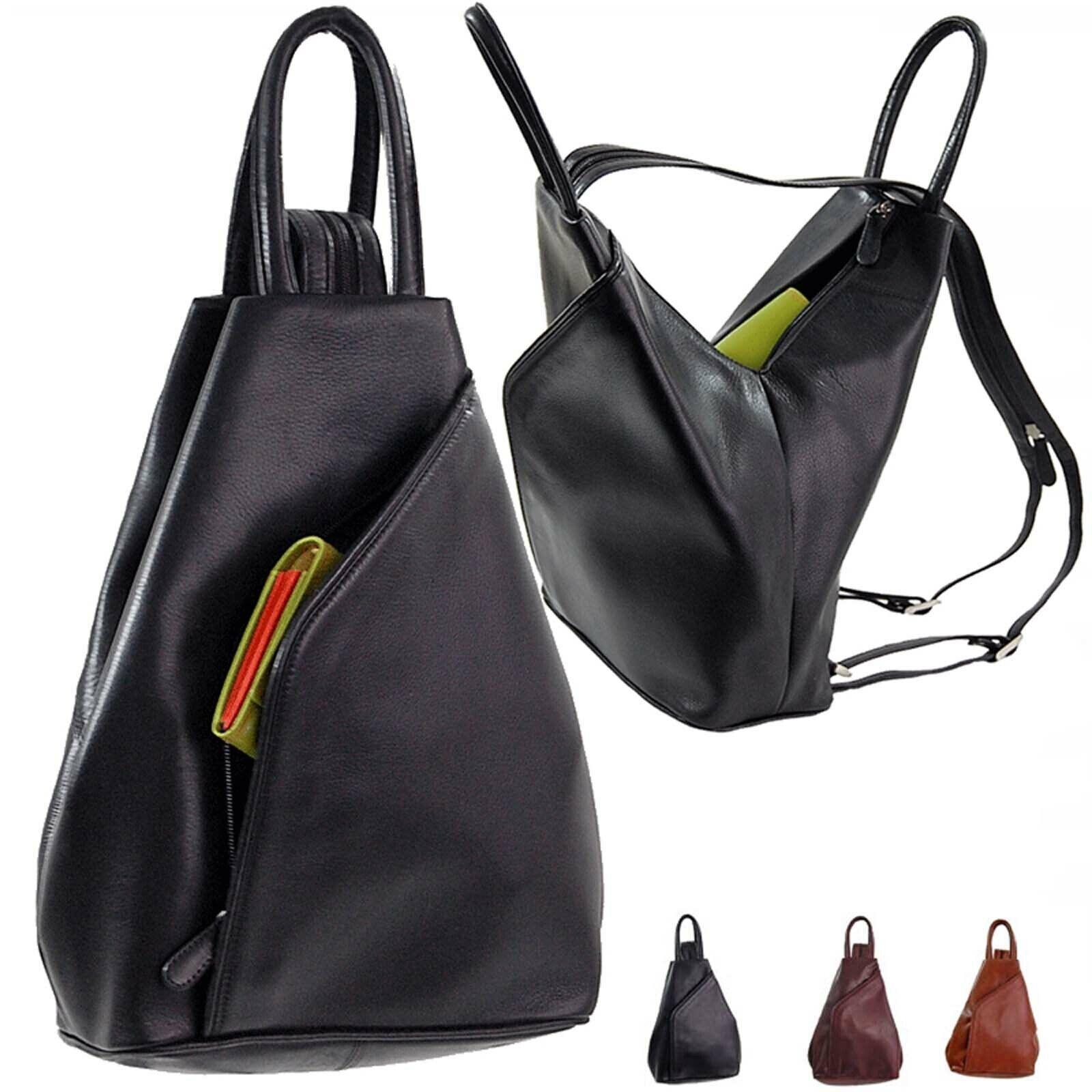 Branco Damen City Rucksack Leder Matchsack Damentasche Handtasche Tasche 5129
