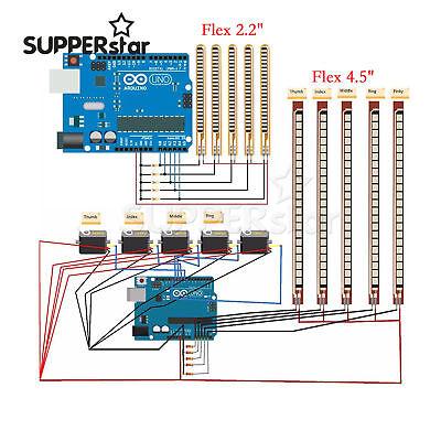 For Flex 2.2 Inch 4.5inch Bend Sensor Electronic Flexible Sensor Ass