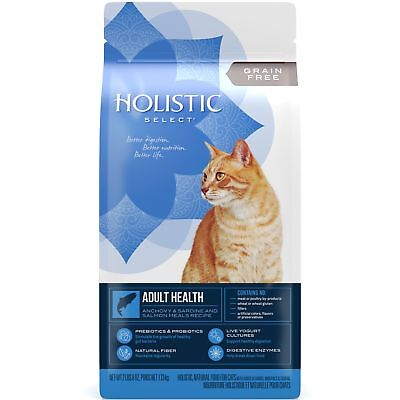 Holistic Select Natural Grain Free Dry Cat Food, Anchovy  Sardine Meal Recipe,