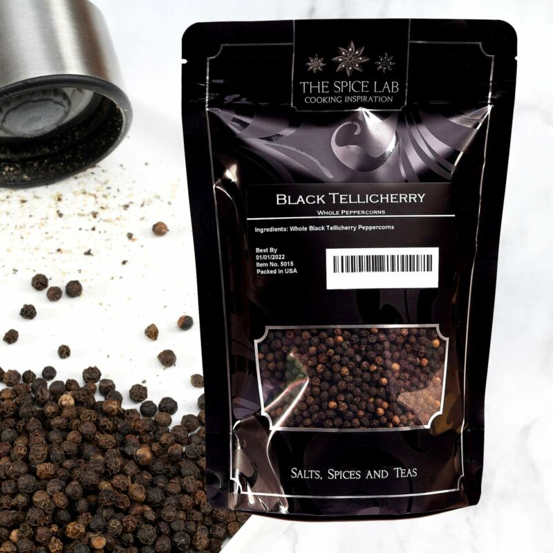 The Spice Lab Tellicherry Whole Black Peppercorns for Grinder Refill - 5015