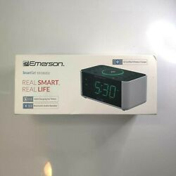 Emerson Smart Set ER100202 Bluetooth Speaker Alarm Clock Wireless Charger