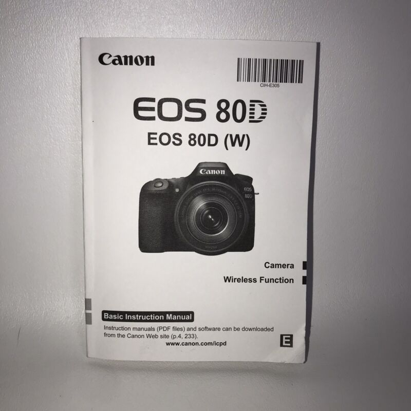 Canon EOS 80D (W) Basic Instruction Manual Camera Wireless function