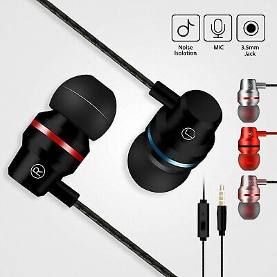 HIFI Super Bass Headset 3.5mm In-Ear Earphone Stereo Earbuds Headphone Wired Consumer Electronics