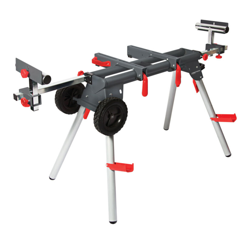 Protocol Contractor Mobile Chop Miter Saw Stand Portable with Wheels WS-077