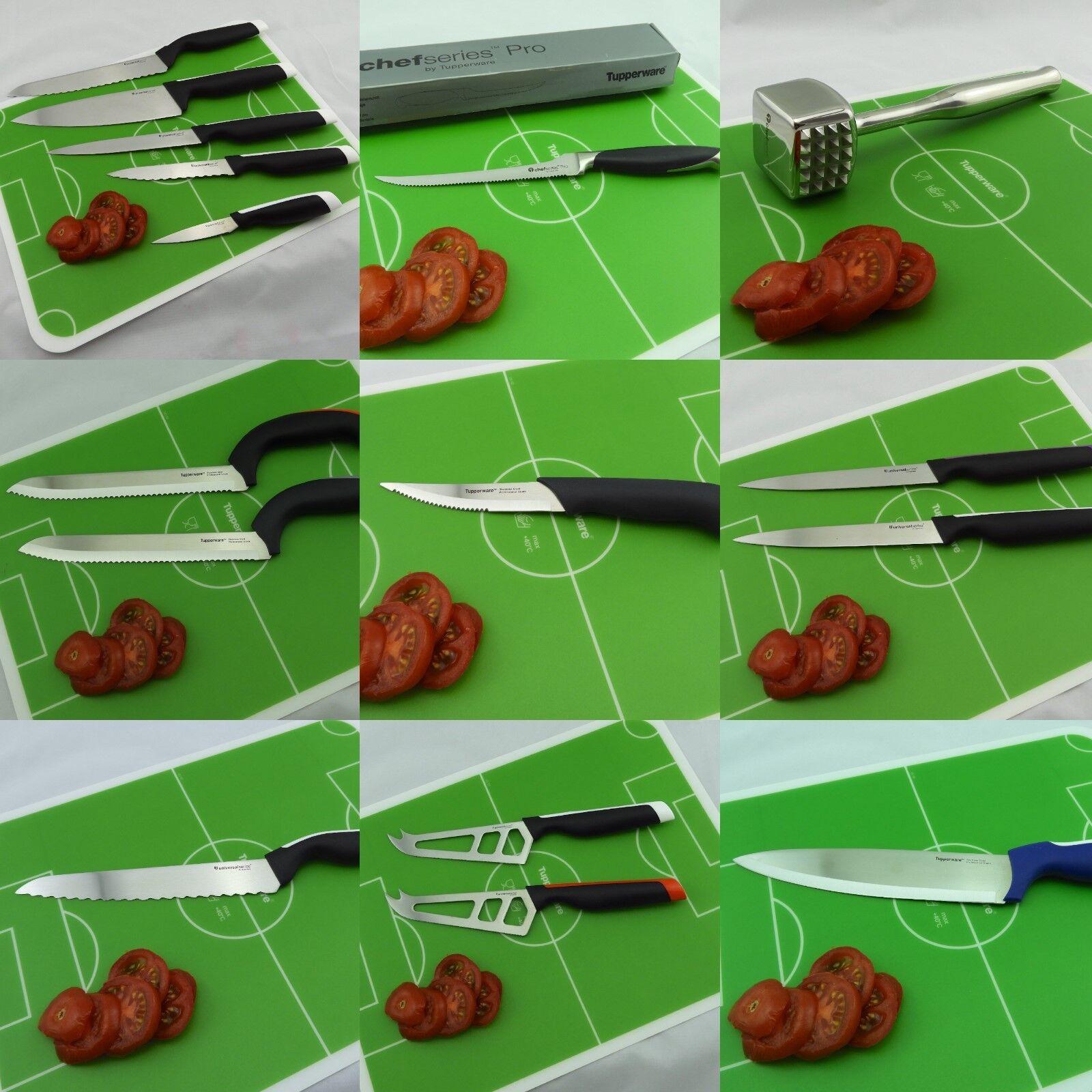 Tupperware Messer, Fleischklopfer, Grillzange und Fleischgabel