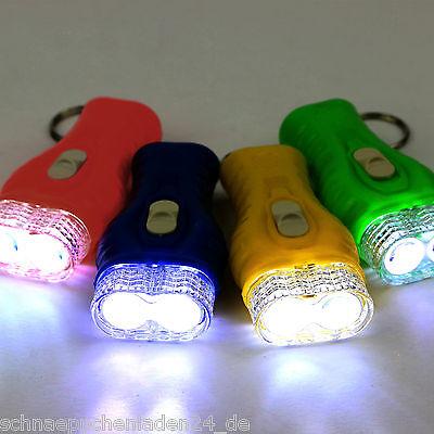 10 LED-Taschenlampen an Schlüsselkette Mitgebsel Kindergeburtstag