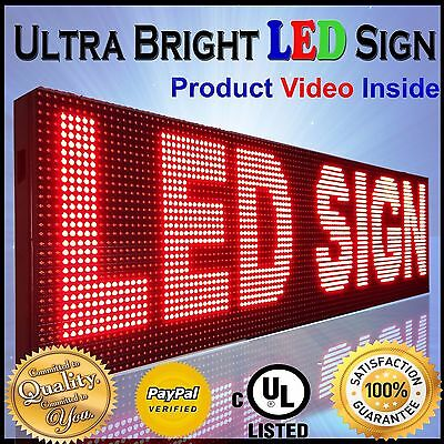 Led Screen 10mm 38x12 Outdoor Programmable Red Scrolling Text Time Bar Display