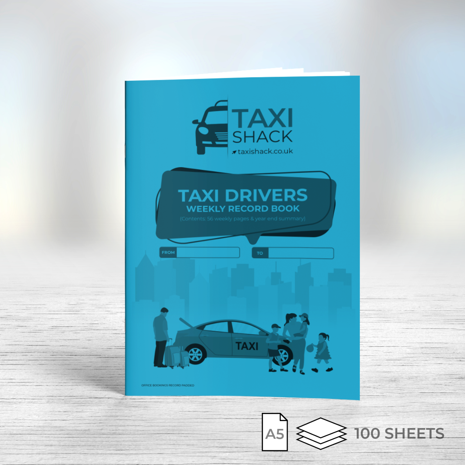 Car Parts - Taxi & private Hire Driver Weekly Account Record Book