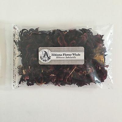 Hibiscus Flowers (1 oz. Hibiscus Flower Whole (Hibiscus Sabdariffa) <28 g / .063 lb> Dried)