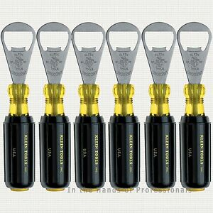 6 Pack Klein Tools 98002bt 6pk Beer Bottle Opener Beverage