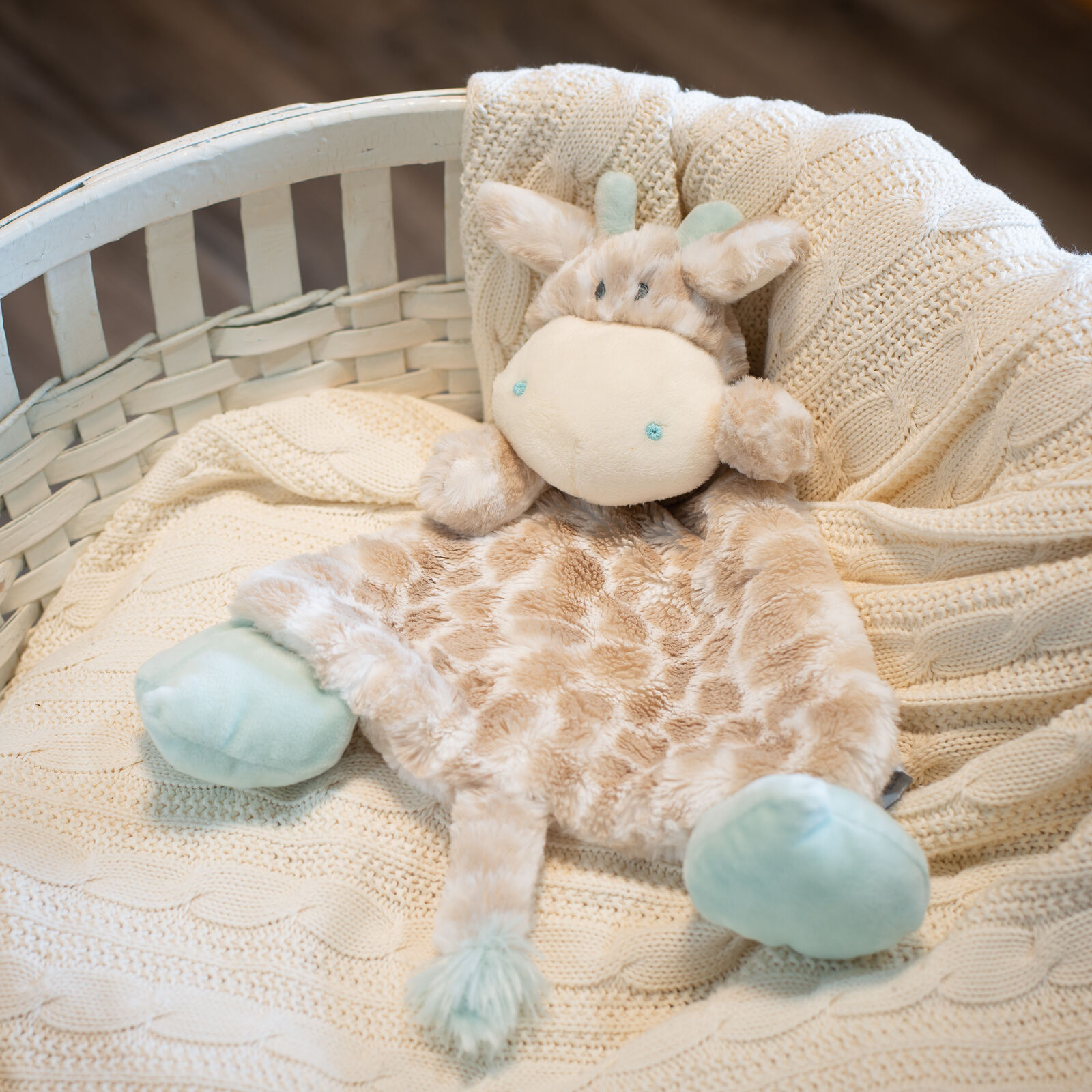 Nat and Jules Blankie Rattle Plush Toy, Colby Giraffe