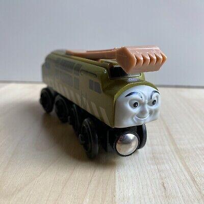 2003 Gullane Thomas & Friends Diesel 10 Wooden Railway Magnetic Toy Train