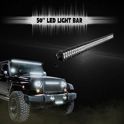 "50"" LED LIGHT BAR Flood/Spot 288W Jeep Rhino Sand-rail Boat Buggy Roof Mount"
