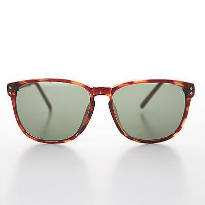 Square Vintage Sunglass Classic Brown Tortoiseshell Frame - (Winston Sunglasses)