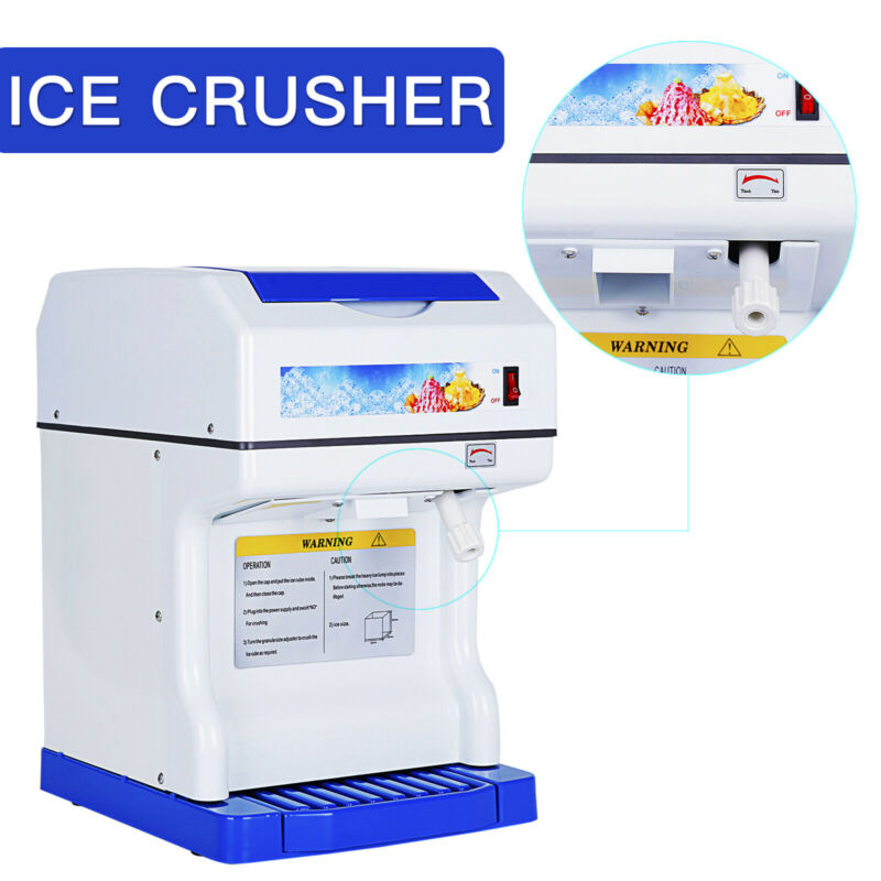 Commercial Ice Crusher Shaving Process Snow Cone Maker Machine Device