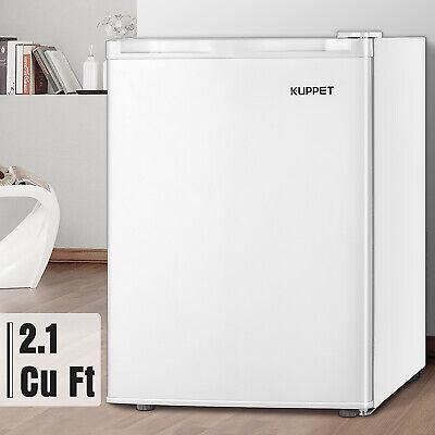 2.1 CuFt Compact Upright Freezer w/Adjustable Thermostat & Removable Shelf White Adjustable Freezer Shelf