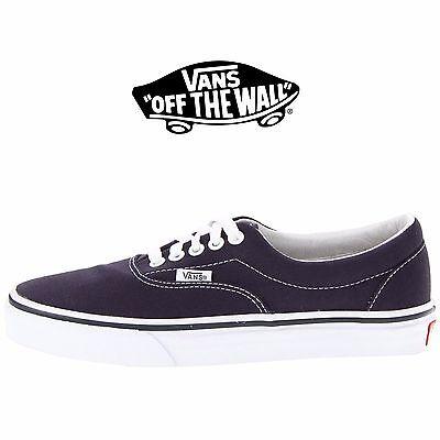 Men's Vans Era Navy Fashion Sneakers Canvas Skate Shoes NIB VN-0EWZNVY
