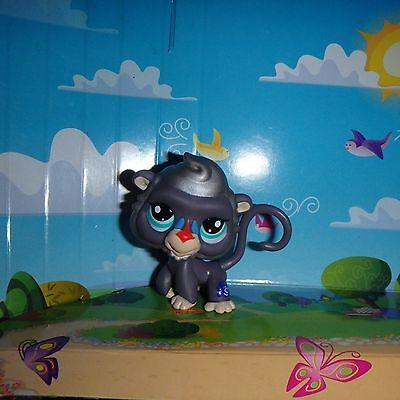 - Littlest Pet Shop NEW/LOOSE mail order Mandrill Monkey gray RARE!