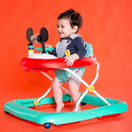 Baby Walker w Activity Station Music FUN Mickey Mouse 6-12 month UNISEX BOY GIRL