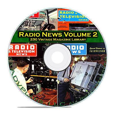 Radio   Tv News  Electronics World  Vol 2  230 Classic Otr Magazines Pdf Dvd B83