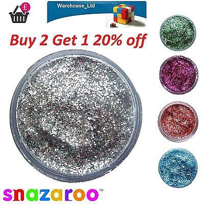 Snazaroo Glitter Gel 12ml Glitter Dust Fancy Dress Halloween Face Paint Makeup  (Snazaroo Halloween Makeup)