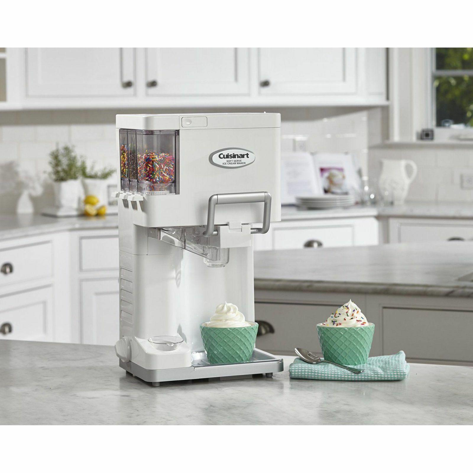 Photo Countertop Soft Serve Ice Cream Machine Maker Yogurt Automatic Freezer Fully