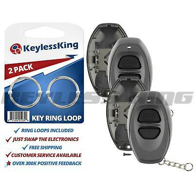 2 New Replacement Keyless Entry Remote Key Fob Case Shell Pad for RS3000 -