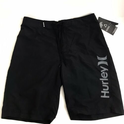"""NEW Hurley Men's One and Only 2.0 21"""" Boardshorts - Black -"""