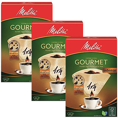 MELITTA 1x4 Gourmet Intense Coffee Maker Machine Filter Paper Cone Filters x 240
