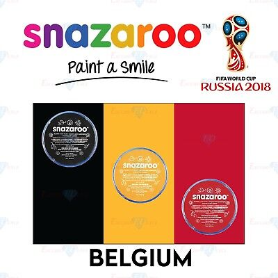 Snazaroo Football Belgium World Cup Red & White Set Face & Body Paint Make Up](Football Halloween Makeup)