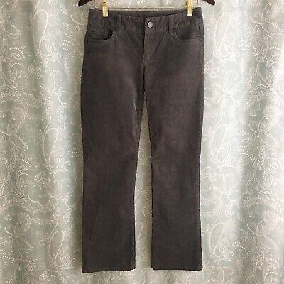 J. Crew Women's Gray Favorite Fit Corduroy Stretch Vintage Bootcut Pants 0 Short