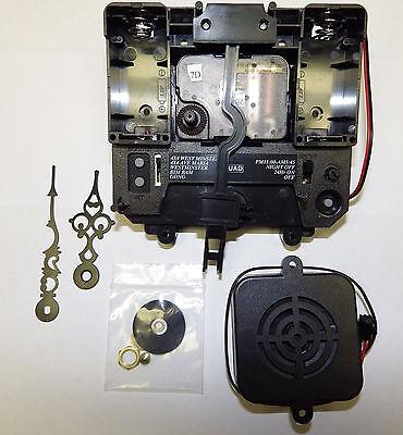 "NEW Quad Chime Quartz Battery Clock Movement Tubular Bell Sound 1/4"" Thick Dial"