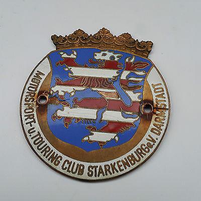 Emailschild Motorsport Autoplakette u. Touring Club Starkenburg eV. Darmstadt