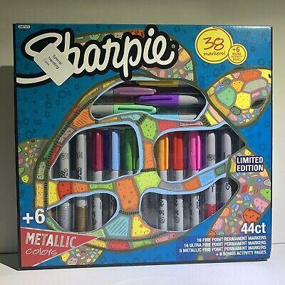 Sharpie Markers Ultra Fine Metallic Fine Assorted Colors 38 Pens Brand New