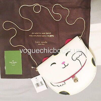 NWT Kate Spade $298 Tonti Street Cat Leather Crossbody Bag Purse Clutch
