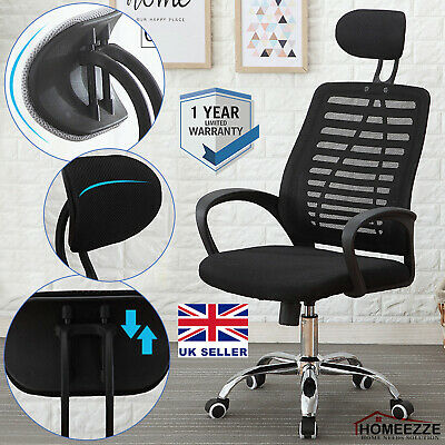 Luxury Ergonomic Mesh Office Chair Adjustable Swivel Executive High Back Chair