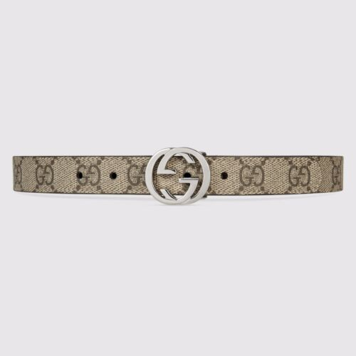 NWT NEW Gucci girls boys GG belt beige ebony or blue S M L 258395