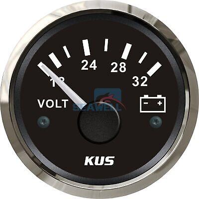 KUS Voltmeter Gauge Marine Boat Battery Voltage Meter Volt Indicator 18-32V