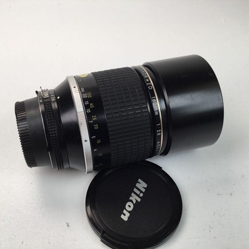 Nikon Nikkor * ED 180mm f2.8 AIS Lens Used EX
