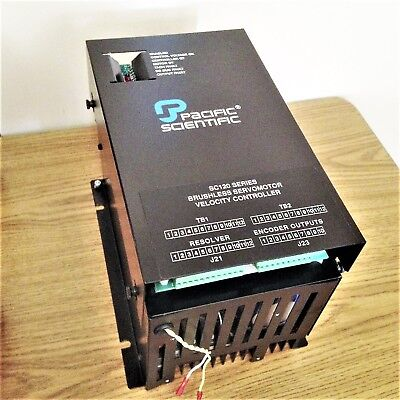 Pacific Scientific Sc120 Series Sc125-410-t4 Brushless Servomotor Velocity Drive