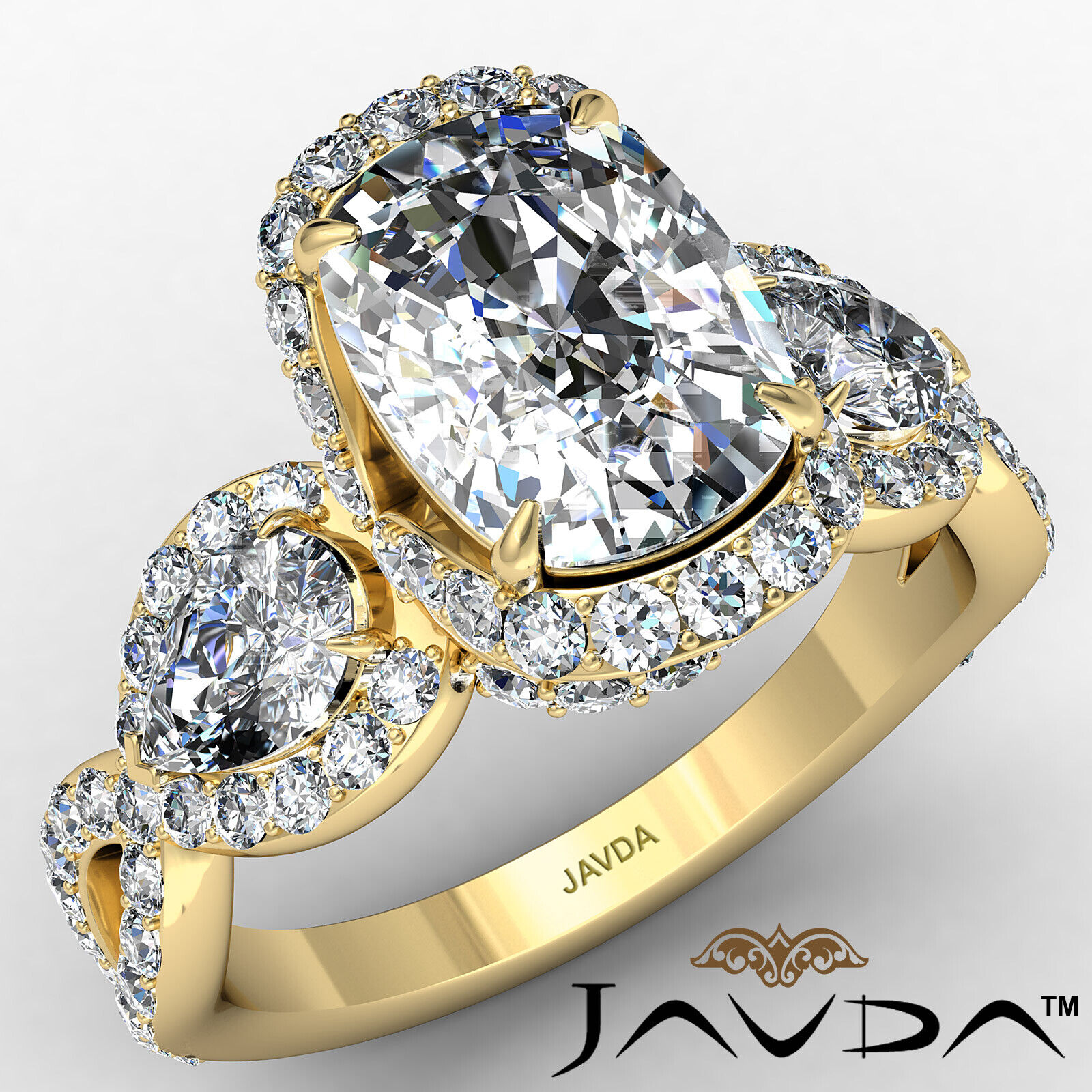 Halo Cushion Diamond Engagement Ring GIA Certified J Color & VS2 clarity 2.4 ctw 1