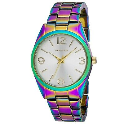 Vernier Womens Oil Silk Round Link Watch With Gift Box